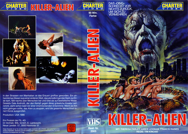 Killer Alien (VHS Box Art)