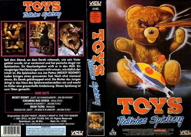 Silent Night, Deadly Night 5, The Toy Maker (VHS Box Art)