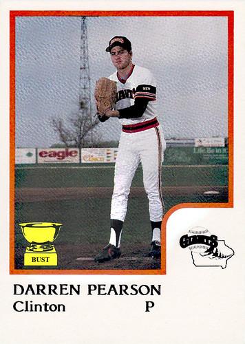 Baseball Card Bust Darren Pearson 1986 Pro Cards