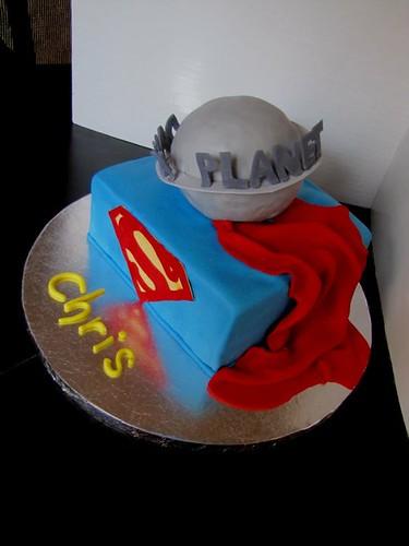Superman Birthday Cake!!