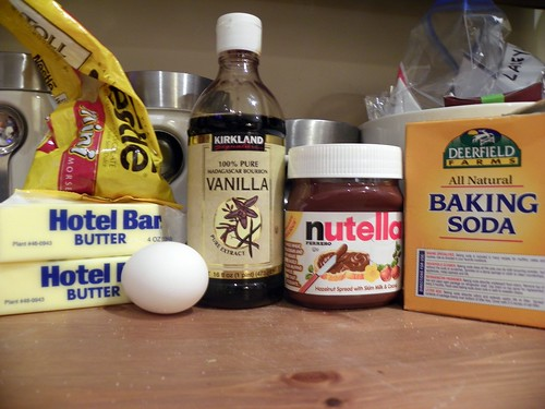 Nutella Cookies - the ingredients