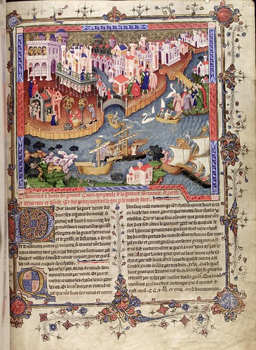 012-folio 218 recto-The Romance of Alexander - MS. Bodl. 264 © Bodleian Library-University of Oxford 1999