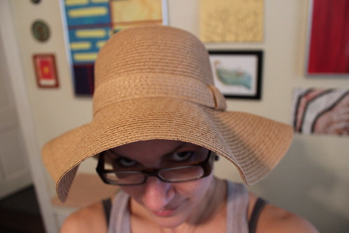 20110215. new floppy sunhat!