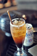 Modelo Preparada (veronikaa) Tags: vacation cold tree ice cup beer glass bar mexicana mexico hotel lemon mix nikon different dof drink sauce cerveza salt tasty can modelo mexican cocktail acapulco taste worcestershire tabasco soy salsa michelada refreshing banyan sal bebida prepared refresh fesh inglesa preparada d5000
