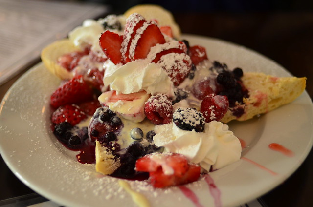Mascapone-stuffed french toast with berries