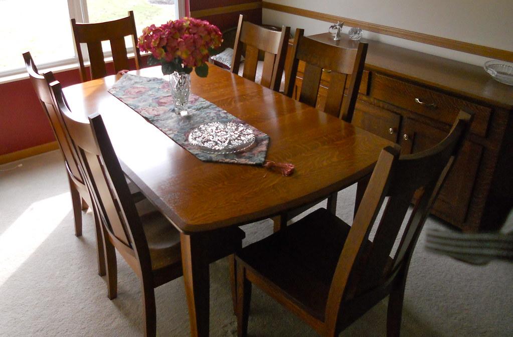 1/4 Sawn White Oak Table Set