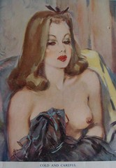 Cold and careful (Martha-Ann48) Tags: ladies artist risque lovelies calendars davidwright 195051