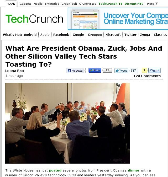 Obama Tech Dinner