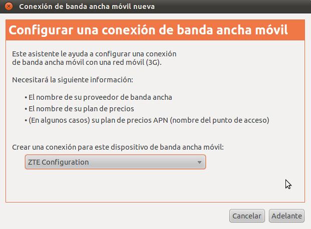 Conectar módem ZTE MF110 a Internet desde Ubuntu [Tutorial]