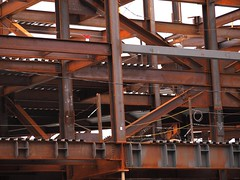 Steel Web (beanhead4529) Tags: newyorkcity brooklyn construction steel arena nets atlanticcenter atlanticterminal barclayscenter barclayscenterconstruction brookynnets