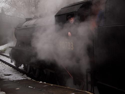 Haworth Leaving Train