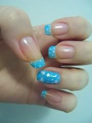 Francesinha Dots Azul (x_Jess) Tags: azul dots unha esmalte francesinha anelar