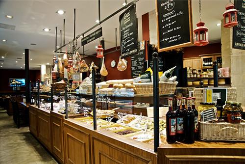 Vista de la zona delicatessen