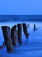 MDG Breakwall 1 (Explored #479) (Montwerx) Tags: sunset beach time southcarolina tungsten follybeach atlanticocean breakwall eroded 5photosaday mdggraphix