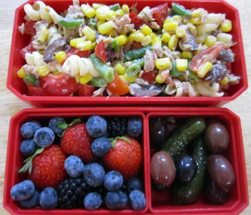 pasta salad bento