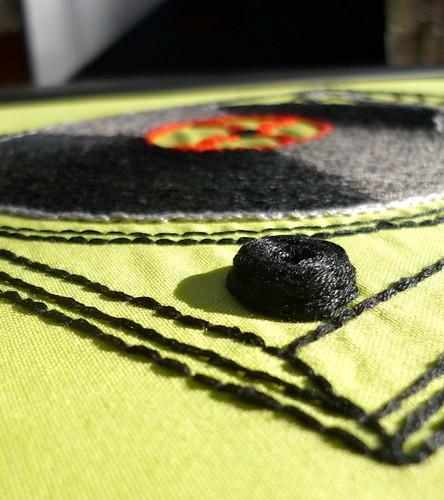 Woven spider wheel stitch