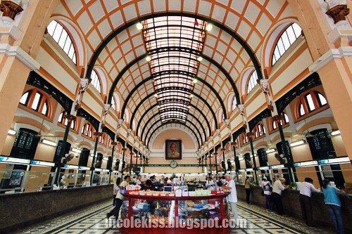 beautiful interior of post office
