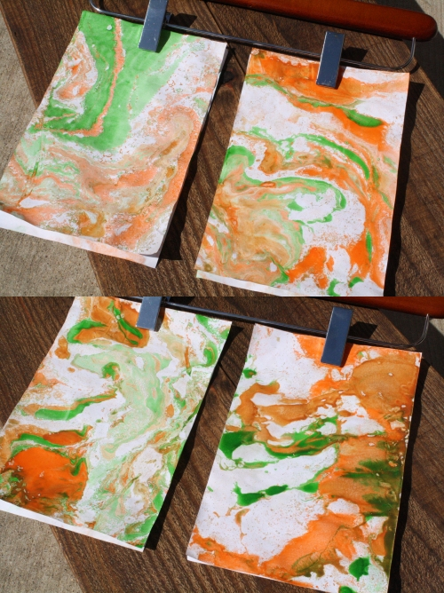 some of caleb's marbled papers