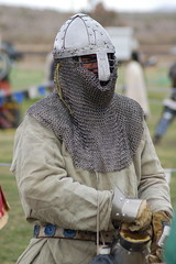 Estrella Feb 2011 204 (Beothuk) Tags: arizona etched d50 belt nikon christ mail sca chain armor knight feb armour estrella nasal helm coif 2011 atenveldt