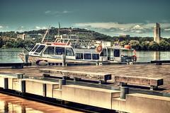 Ahoy Mateys! (Aaron-RT) Tags: lake tree water boat dock nikon flood pirates 70s canberra submerged lifebuoy carillion cruiser hdr act snag burleygriffin d80 ahoymatey aperture3