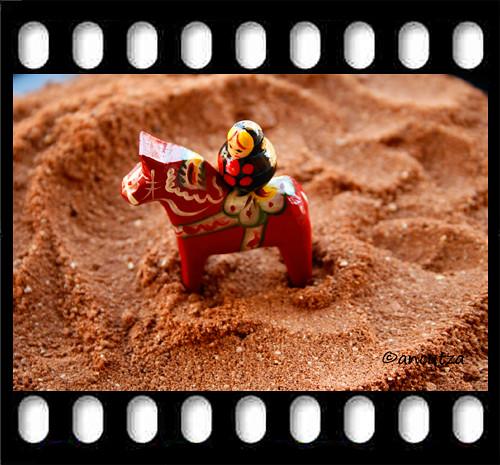 la piccola matrioska nel deserto dei biscotti al cioccolato