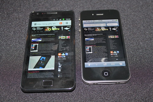 Samsung Galaxy SII und iPhone 4