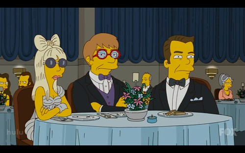 Lady Gaga Elton John. Lady Gaga, Elton John amp; Ricky Gervais