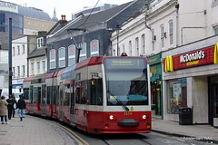 "London red? ""I'm loving it!"" (Amsterdam RAIL) Tags: uk england trolley tram streetcar wimbledon tramway croydon lt route1 macdonalds engeland strassenbahn tramvaj electrico tramlink londontransport tfl tramvia royaumeuni greaterlondon greatbrittain 2534 grootbrittanie tranviaa tramlink2534"
