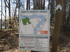 Owl's Roost Trail sign Photo