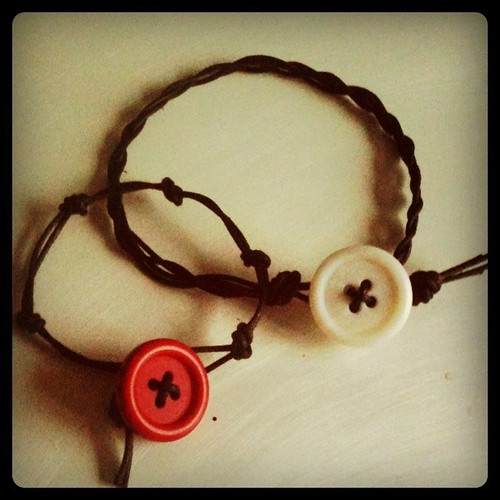 Button and cord bracelets