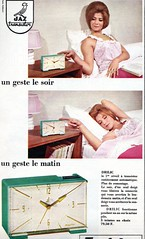 the 1960s-ad for Jaz alarm-clock (april-mo) Tags: alarmclock the60s vintagead the1960s 1964ad lesannes60 vintagefrenchad vintageadforalarmclock 1964frenchmagazine jazalarmclock