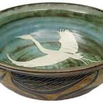 "<b>Heron Bowl</b><br/> David Aurelius, LC '72 (stoneware, 1997-98) LFAC#2002:05:20<a href=""http://farm6.static.flickr.com/5174/5490874788_60cdfd5167_o.jpg"" title=""High res"">∝</a>"