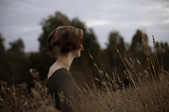 (Brendan_Timmons) Tags: cold cute girl grass reeds pretty dress ring 50mmf14 canon5dmkii
