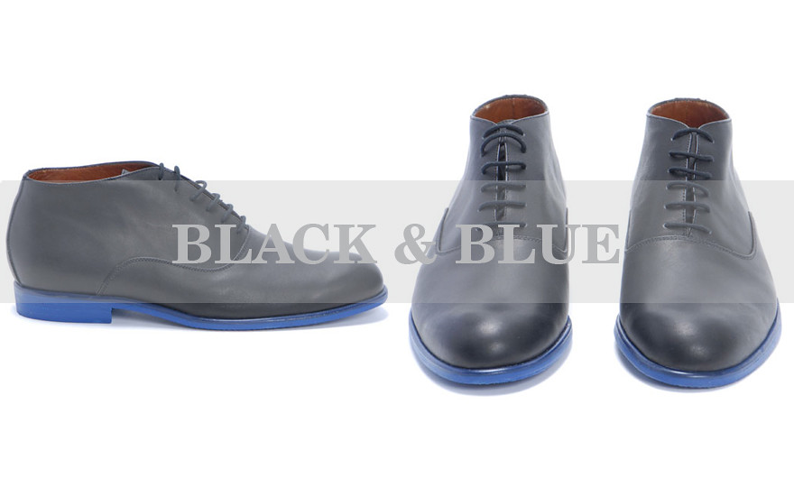 blue soled