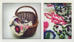 Fryslan (YYNTL) Tags: flowers dutch fashion basket handmade application fabric cotton shawl riet friesland bloemen fryslan sewn mand sjaal mandje borduren blom stof geborduurd applicatie katoen blommen rietenmand