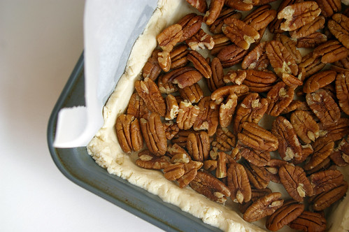 Pecans and crust