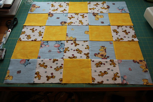 Quilt top sewn together #6