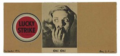 [ J ] Ray Johnson - Untitled (Oh! Oh! Lucky Strike) (1960)
