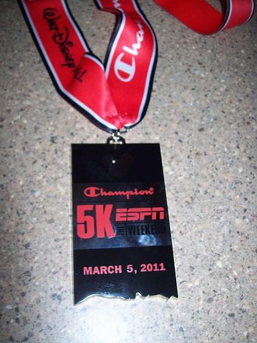 Champion 5k medal