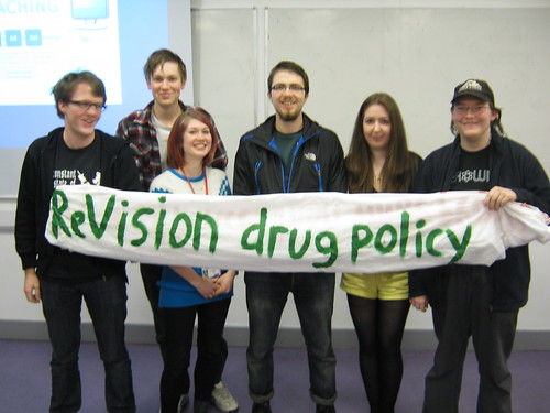 Re:Vision Drug Policy Manchester activists.