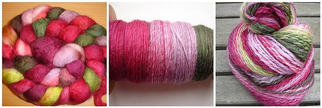 Pink Lady Apple Handspun
