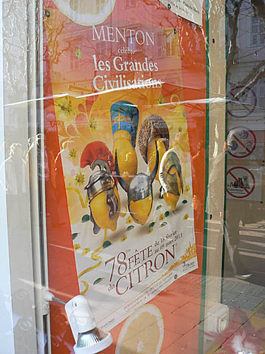 affiche fête du citron