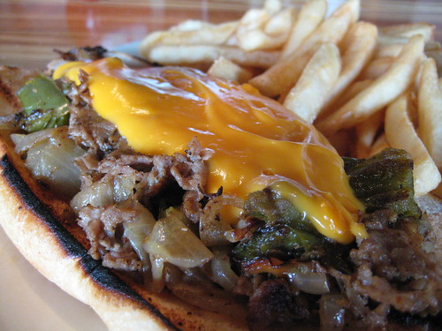 Philly Cheesesteak at Tubby's Tank House