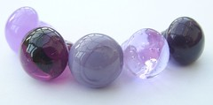 Buttons Purple 3 (Glittering Prize - Trudi) Tags: uk glass beads trudi lampwork sra glitteringprize fhfteam britlamp thgg
