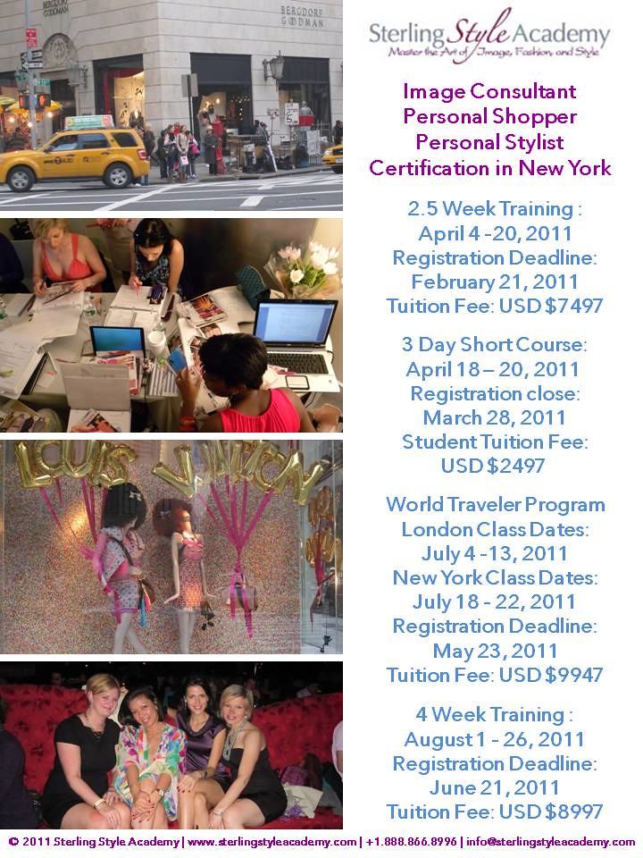 New York Personal Stylist & Personal Shopper Training Sterling Style Academy
