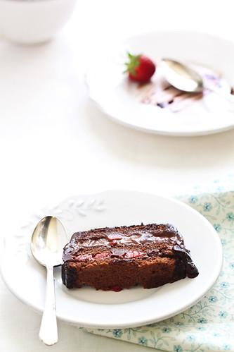 Terrina de xocolata i maduixes