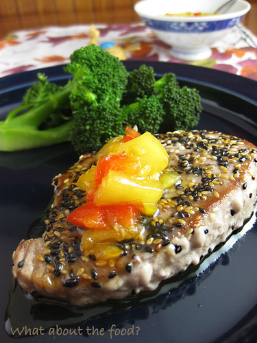 Sesame Seeded Seared Ahi Tuna