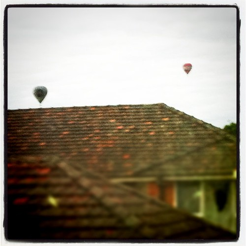 Up so early I see hot air balloons from my studio!