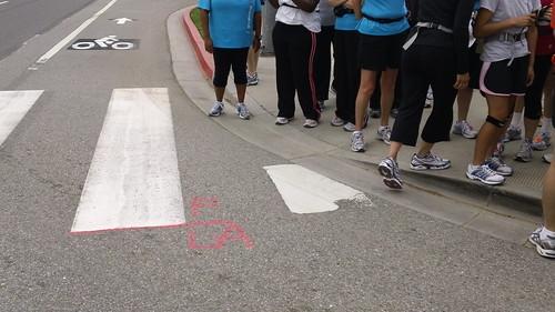 LA Marathon Finish Line - California and Ocean