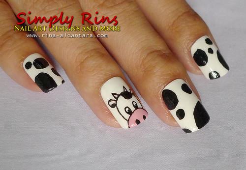 Nail Art Curious Cows Simply Rins